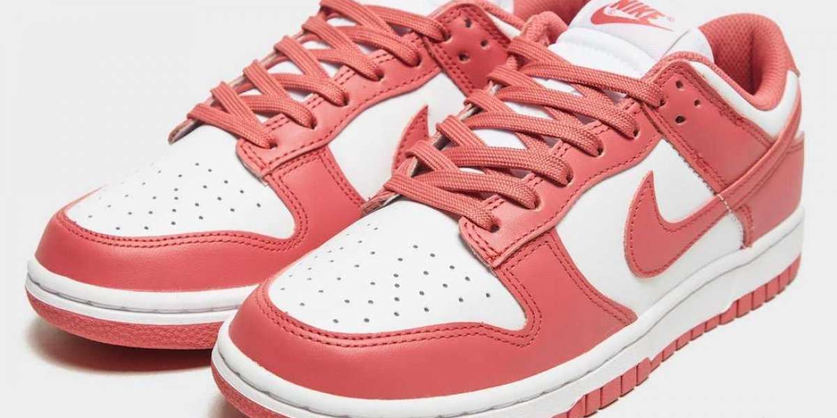 """DD1503-111 Nike Dunk Low """"Archeo Pink"""" Skateboard Shoes"""